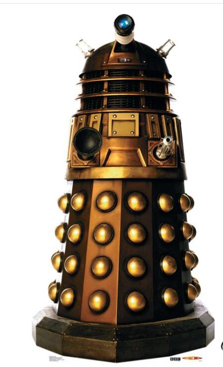 Gold Dalek Stand Up
