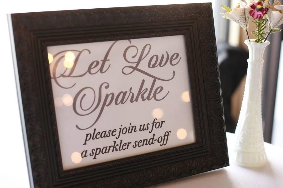 Sparkler Exit Sign