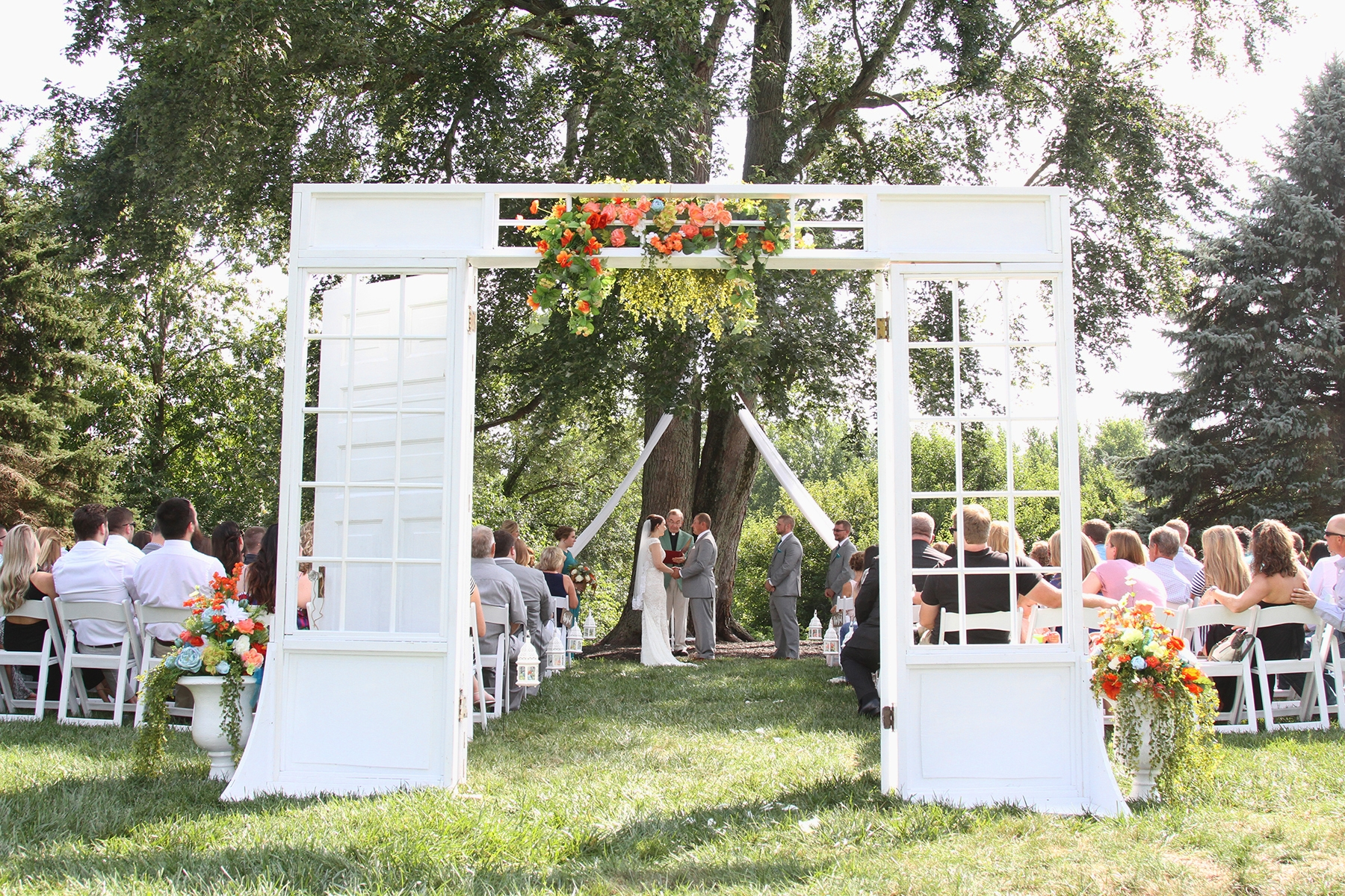 White Door Entrance/Arch
