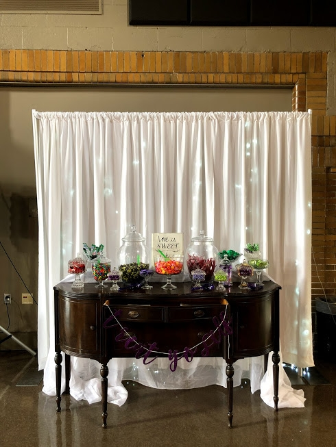 10 ft Lighted Backdrop