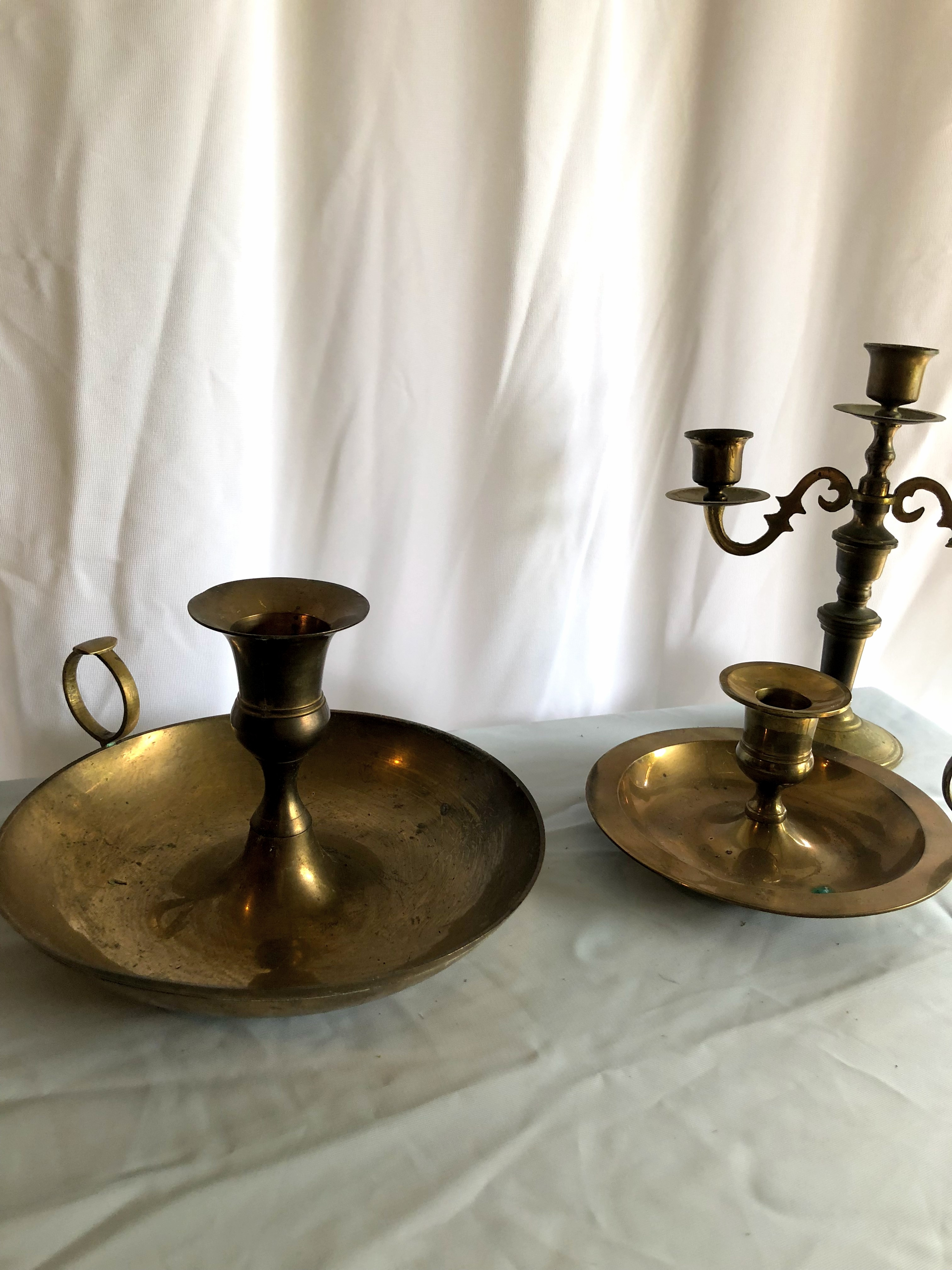 Brass Vintage Candle Holders