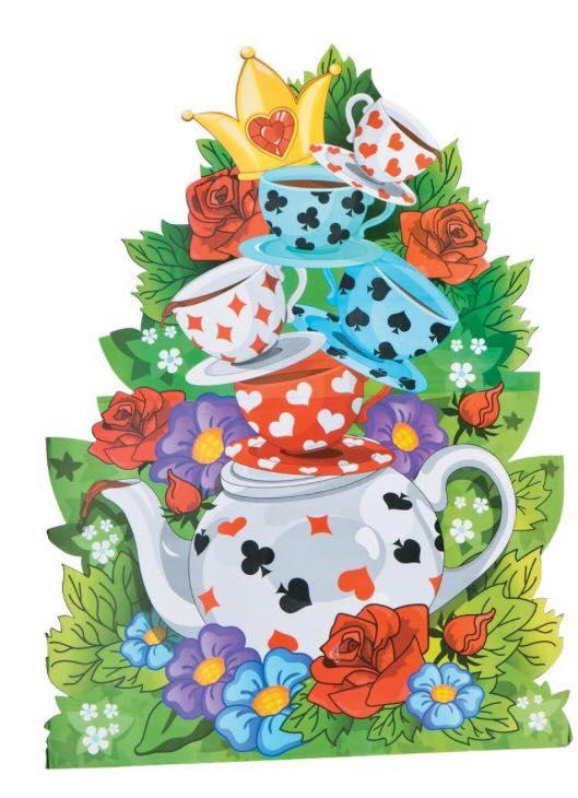 Tea Cup Cardboard Stand
