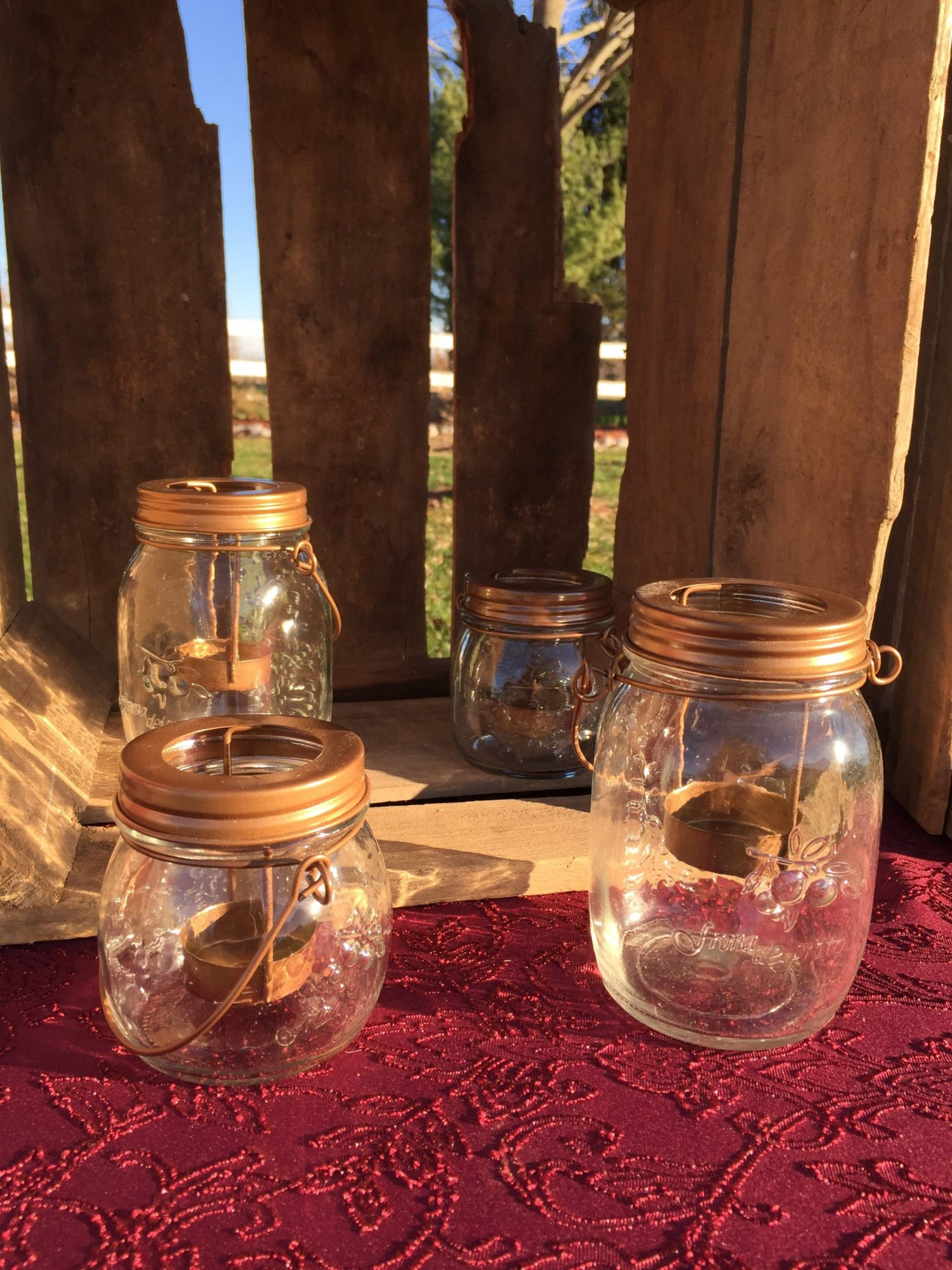 Mason Jars with Tea Light Holder