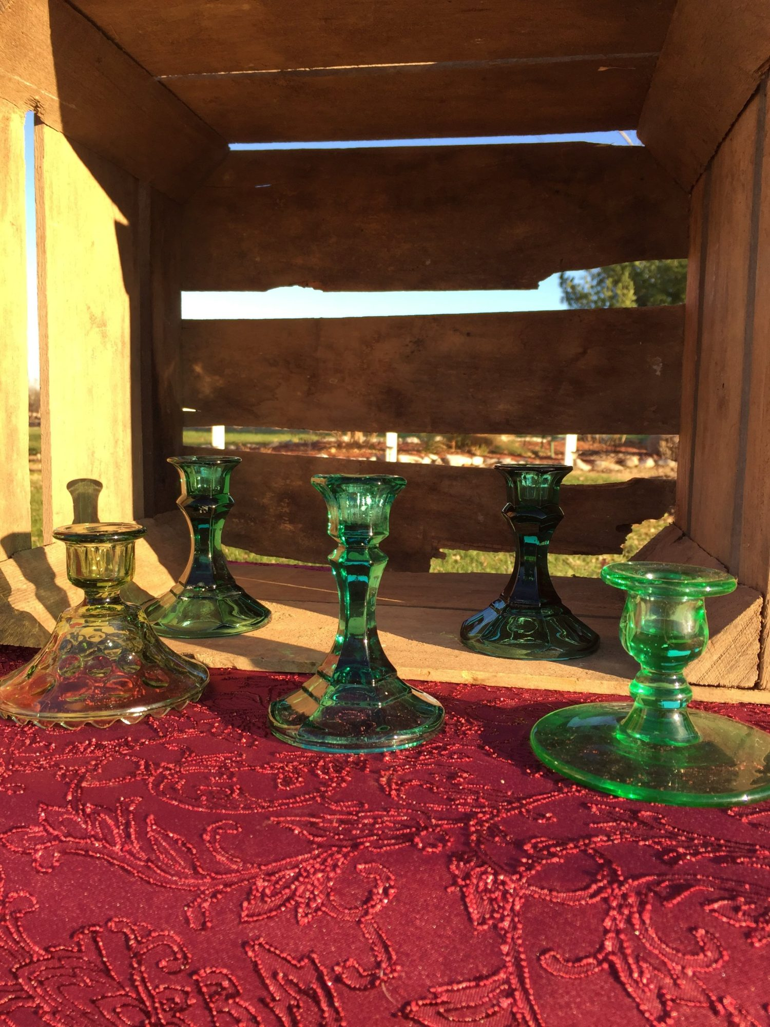 Green Candlesticks